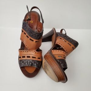 7 For All Mankind Platform Womens 10 M Sandals